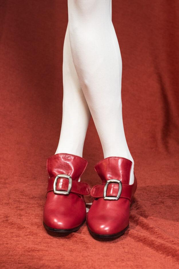 calzatura 700 uomo rosso nicolao atelier