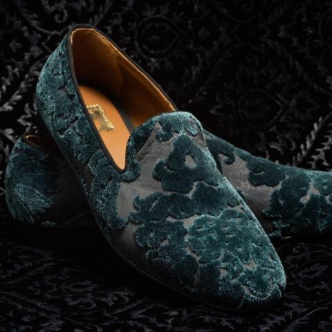 pantofole verde scuro nicolao atelier