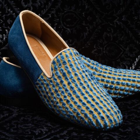 pantofole azzurro nicolao atelier