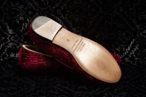 pantofole rosse righe nicolao atelier 2