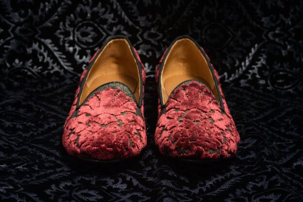 pantofola rosso scuro con ricami nicolao atelier 4