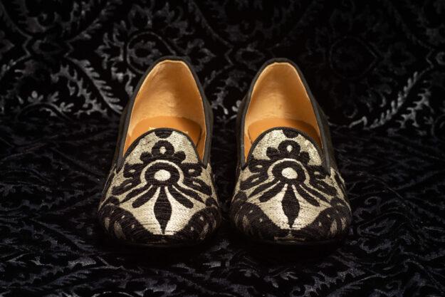 pantofola bianco nero nicolao atelier 2