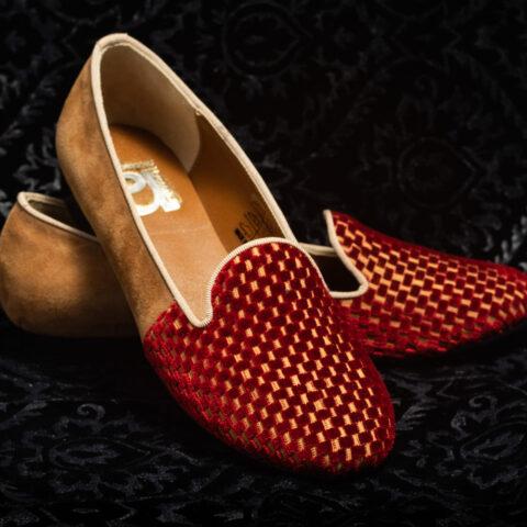 pantofola oro più rosso nicolao atelier