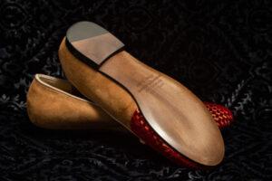 pantofola oro più rosso nicolao atelier 5
