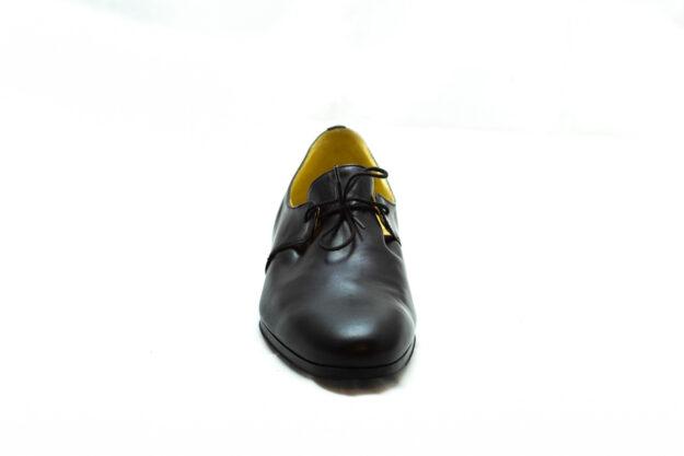 calzatura nero con lacci nicolao atelier 1
