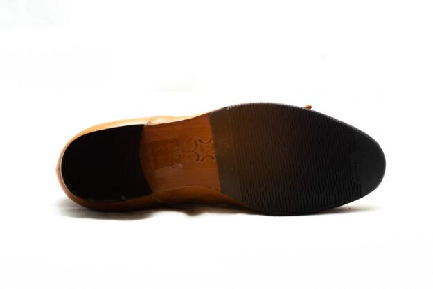 calzatura pantofola cognac con frangia nicolao atelier 6