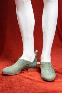 calzatura camoscio verde oliva nicolao atelier