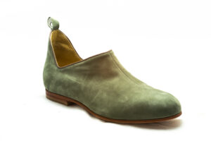 calzatura camoscio verde oliva nicolao atelier 3