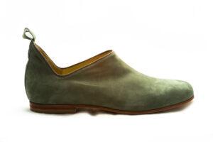 calzatura camoscio verde oliva nicolao atelier 4