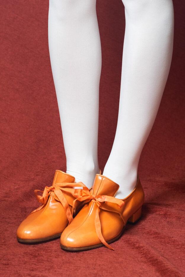 calzatura arancio nicolao atelier 1