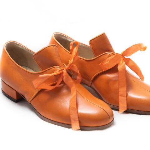 calzatura arancio nicolao atelier