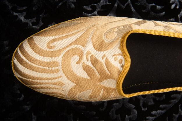 pantofola gialla con ricami donna nicolao atelier 4