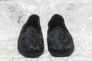 pantofola uomo nero con ricami nicolao atelier 3
