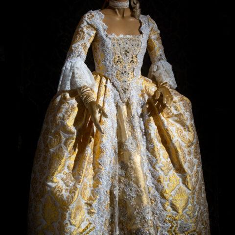 costume taglio storico lampasso donna nicolao atelier venezia