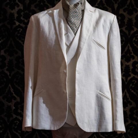 giacca anni 30 lino bianco nicolao atelier venezia