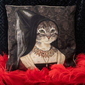 cuscino ritratto maria portinari nicolao atelier venezia