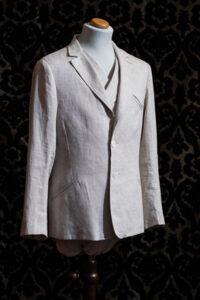 giacca anni 30 lino ecrù nicolao atelier venezia 1
